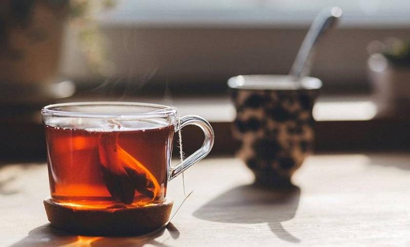 черный чай на тощак