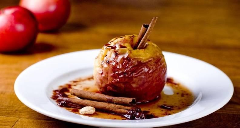 Печеные яблоки натощак